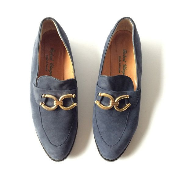 Robert Clergerie Suede Horsebit Horseshoe Loafers by pascalvintage