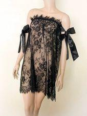 Spitze Braut Dessous Braut Slip Kleid Flitterwochen Nachthemd Spitzenhemd ...  - brautmode - #BRAUT #Brautmode #Dessous #Flitterwochen #kleid #Nachthemd #Slip #Spitze #Spitzenhemd #weddinglingerie