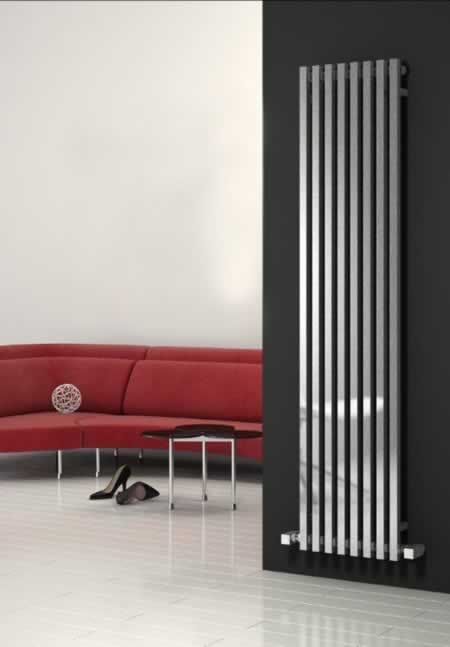 Show details for CASCIA 400/1800mm - Vertical Chrome - The manager office