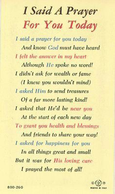 photo about I Said a Prayer for You Today Printable titled I Explained a Prayer for your self Presently Inspirational Offers