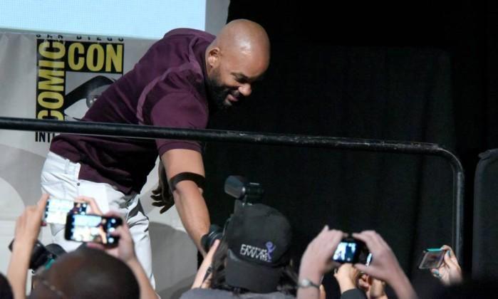 Vaza trailer de 'Esquadrão Suicida', apresentado com exclusividade na Comic-Con. http://glo.bo/1HxVlHM
