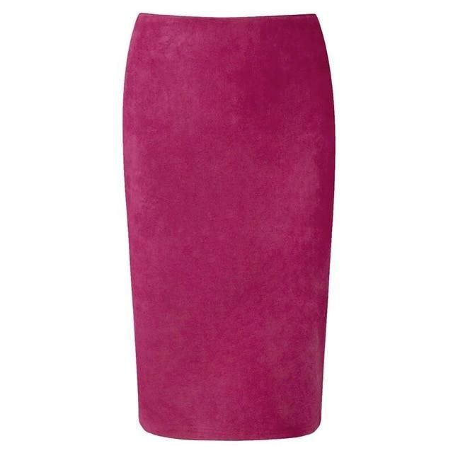 454c54be01 Kira Suede Look Pencil Skirt in 2019 | Skirts and shirts& all things ...