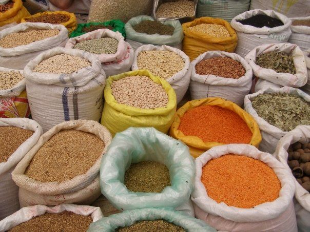 Herbs And Spices Market. Traditional Souk Stock Photo ...   Middle East Spice Market