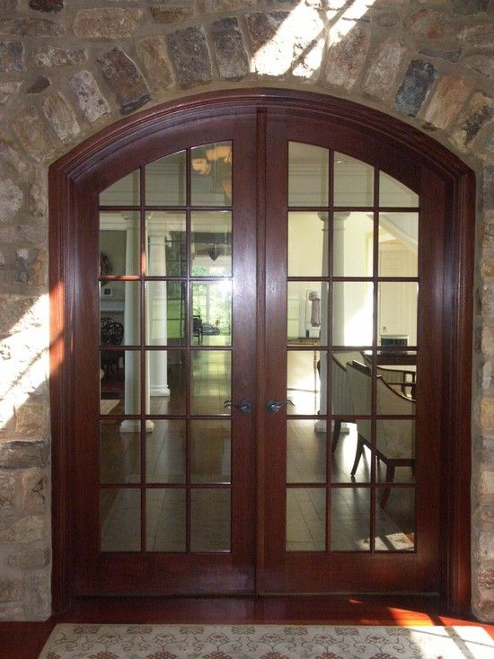 Traditional Home Office French Doors Design, Pictures