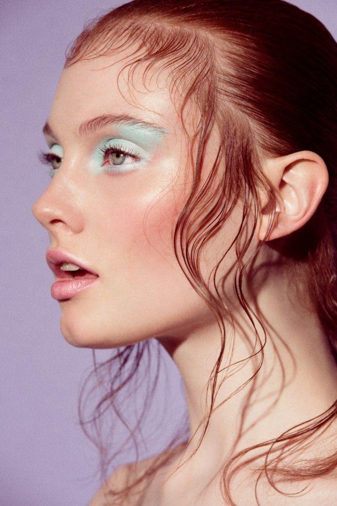 Georgie Hobday by Lara Jade - Eyeshadow Lipstick Art of makeup - küche weiß braun