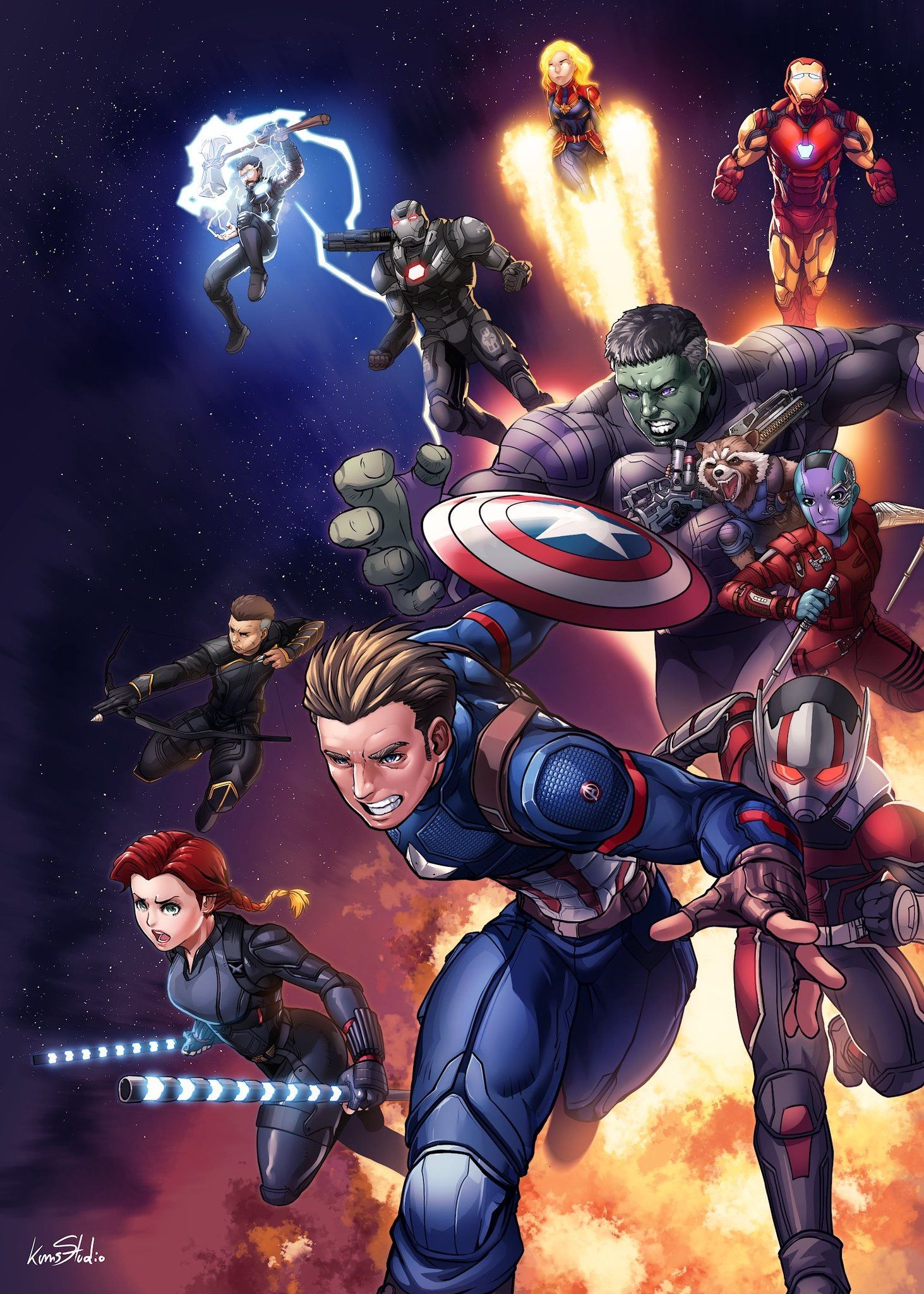 Avengers End Game Art By Kumpol Saeeow Marvel Avengers Comics Avengers Comics Marvel Avengers Funny