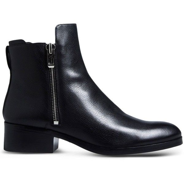 3.1 Phillip Lim Ankle Boots (35.955 RUB) ❤ liked on Polyvore featuring shoes, boots, ankle booties, black, leather booties, black bootie, black leather bootie, ankle boots and black ankle bootie