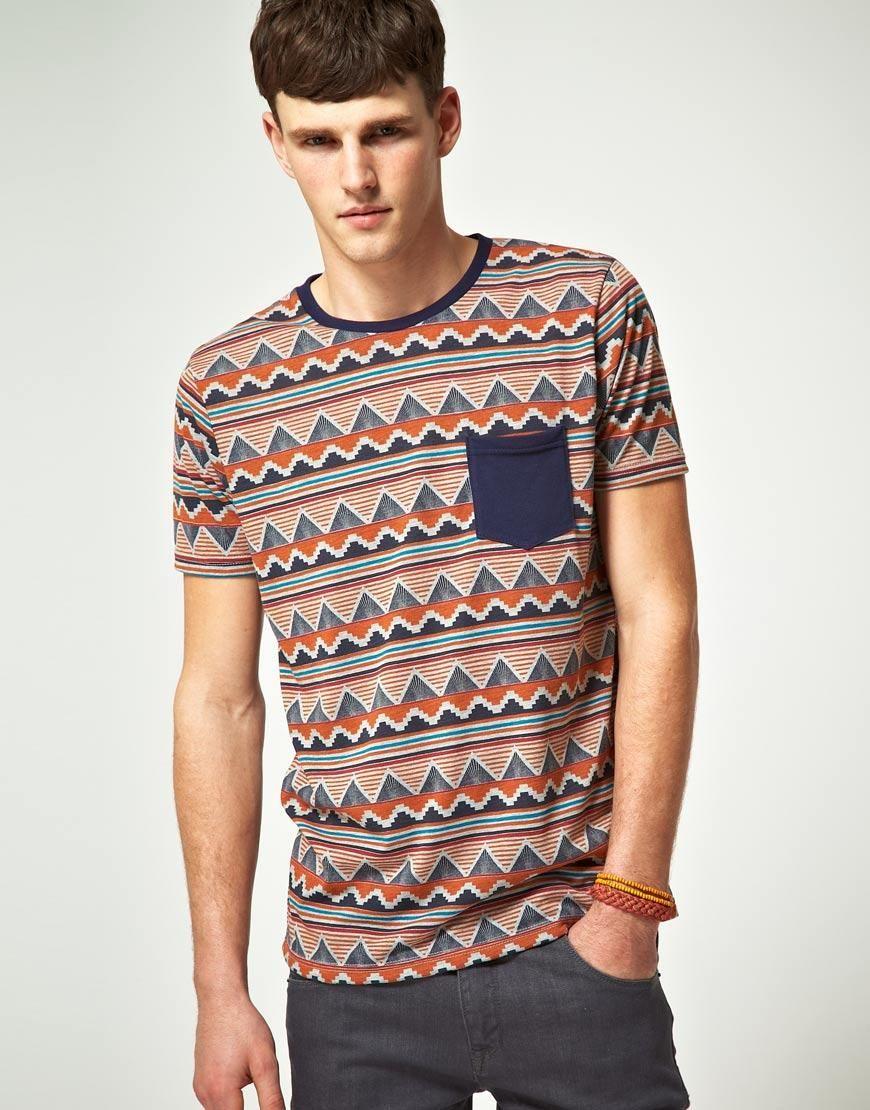 3D Printed T-Shirts Aztec Pattern Short Sleeve Tops Tees