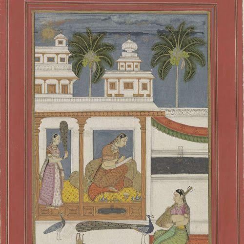 vrouw tekent het portret van haar afwezige geliefde dhanashi