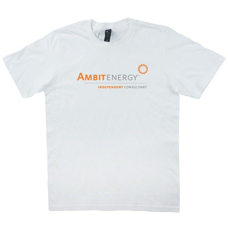 Ambit Energy Unisex White Crew #dsaccess #ambitenergy #apparel #ambitenergyshirt #tshirt