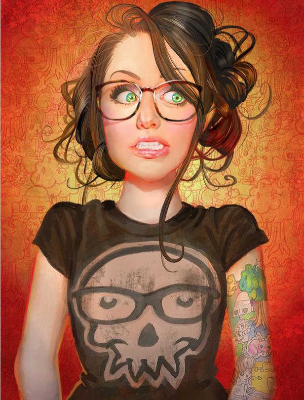 Reddit Portraits - Digital Paintings by Jenny Stout, via