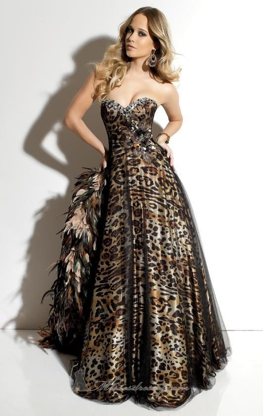 1319b0401b Bridesmaids in Prints - animal print wedding dress