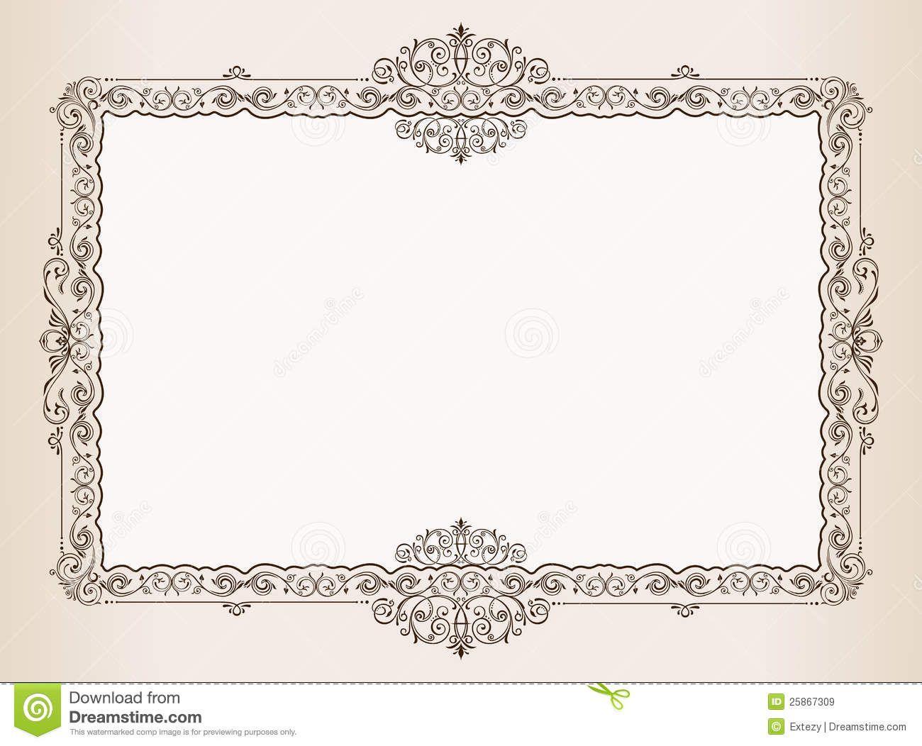 Vector Vintage Frame Ornaments Royal Document Stock Vector Illustration Of Emblem Decoration 25867309 Vintage Frames Ornament Frame Illustration