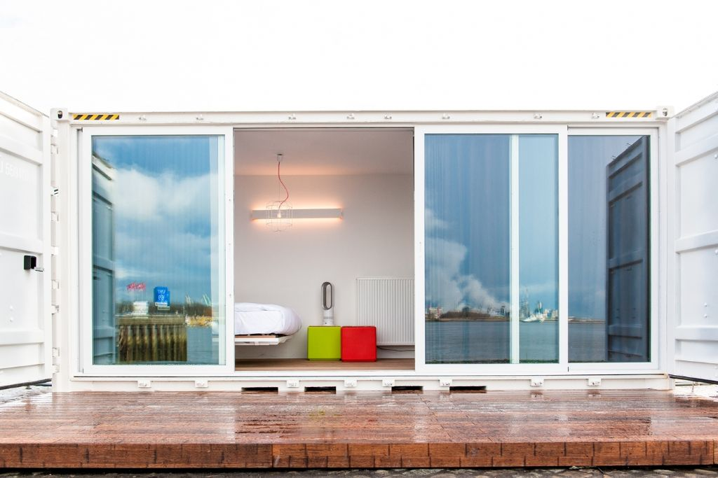 Container Rooms sleeping around: the container pop up hotel | room, house and saunas