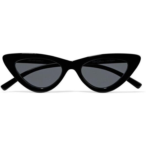 Tijn donna mod super trendy Fashion Cat Eye Sunglasses Nero Black uzAqVj