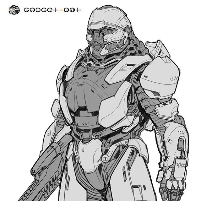 mech suit final line drawing front see the full image in high res at