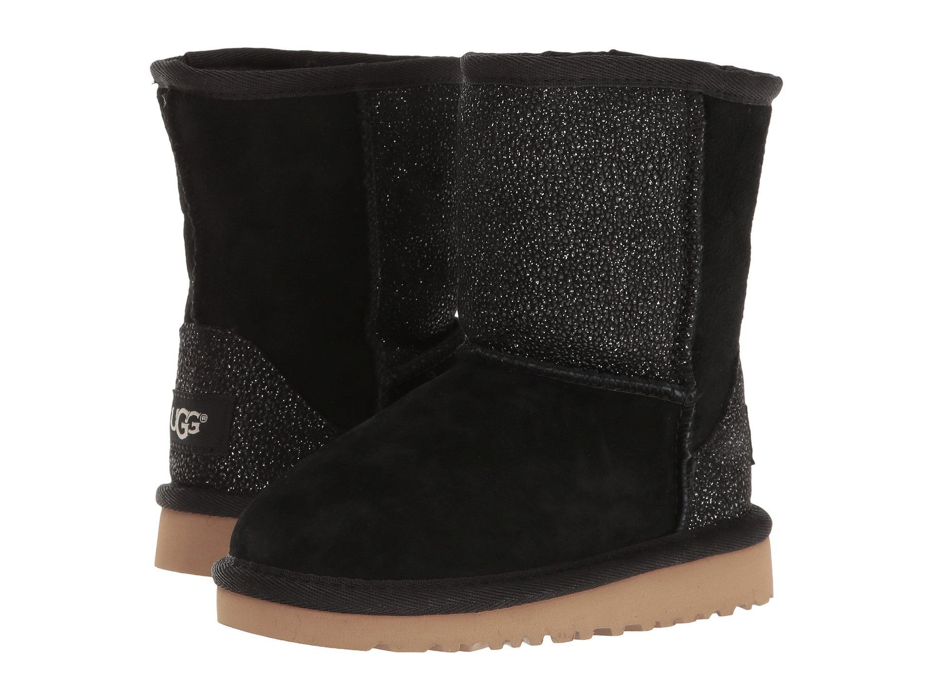77e5a1663bf UGG Classic Short Serin Toddler | Black (1013259T) | Products | Ugg ...