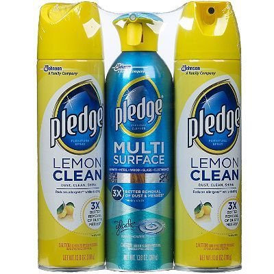 Pledge Furniture Spray Lemon Clean And Multi Surface 13 8 Oz