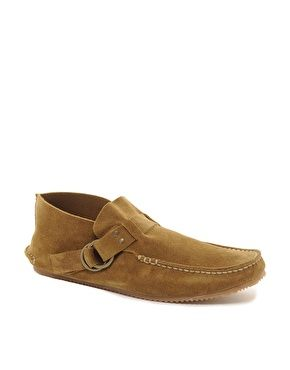 Fracap Suede Moccasin Shoes at Asos