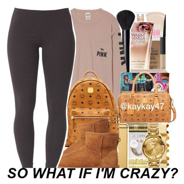 """Too Live In My Pink "" by chynaloggins ❤ liked on Polyvore featuring Victoria's Secret, MCM, UGG and Joe Browns"