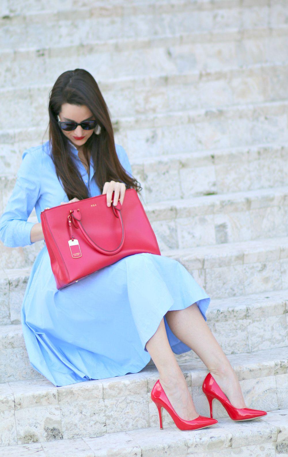 An Afternoon of Polo: Ralph Lauren Blue Poplin Shirtdress - Diary of a  Debutante � Polo Ralph LaurenDebutanteShirtdressPoplinShirt Dress