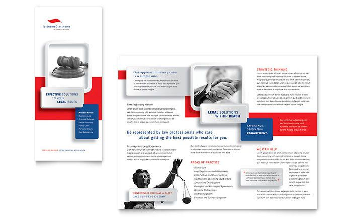 Auto Mechanic Brochure Design Template by StockLayouts Work - law firm brochure