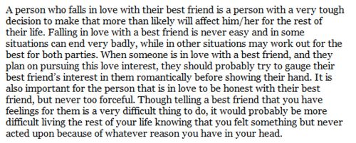 Quotes About Being In Love With Your Best Friend Classy Falling In Love With Your Best Guy Friend    Quote