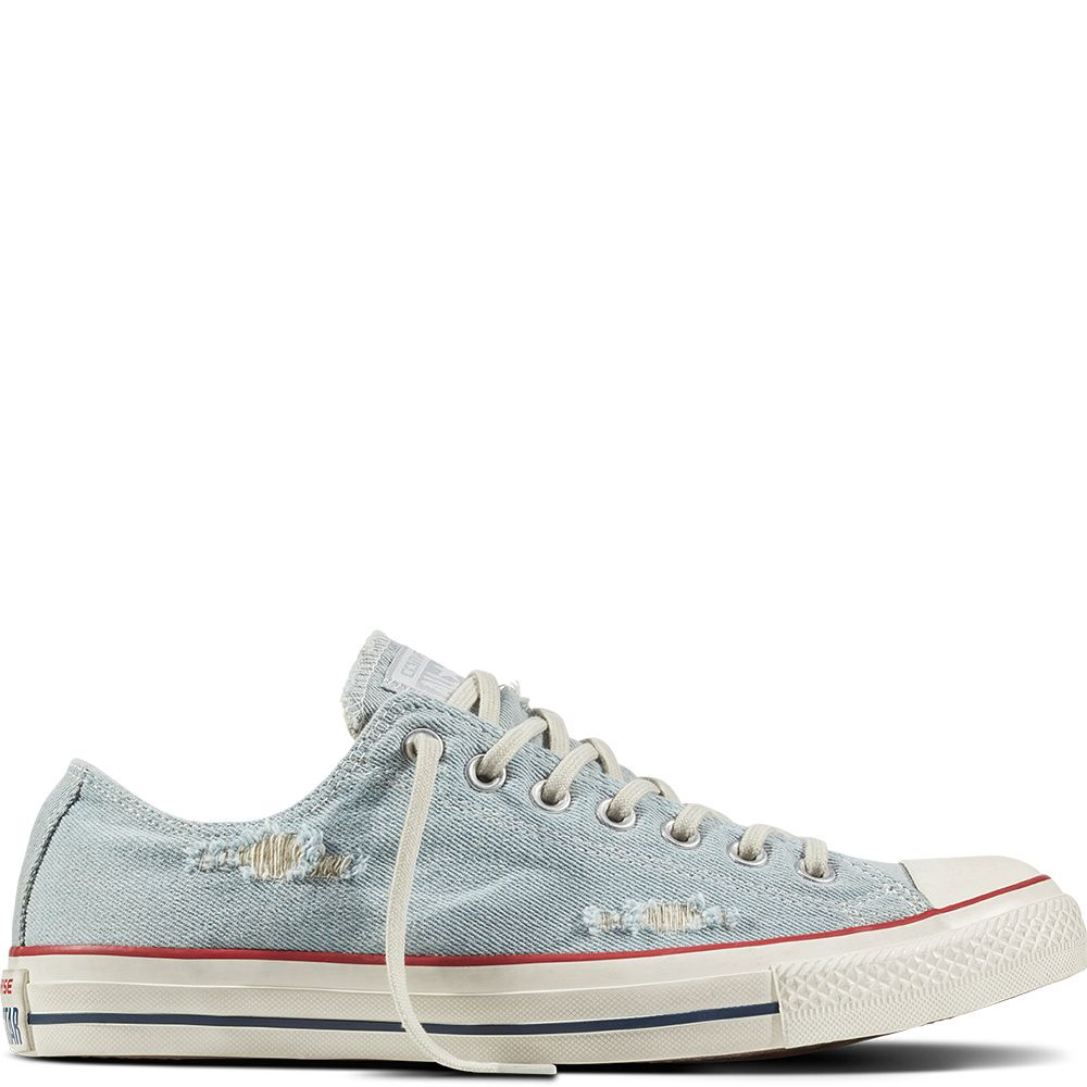 98630b9248cc Chuck Taylor All Star Destroyed Denim Light Blue White Black light  blue white black
