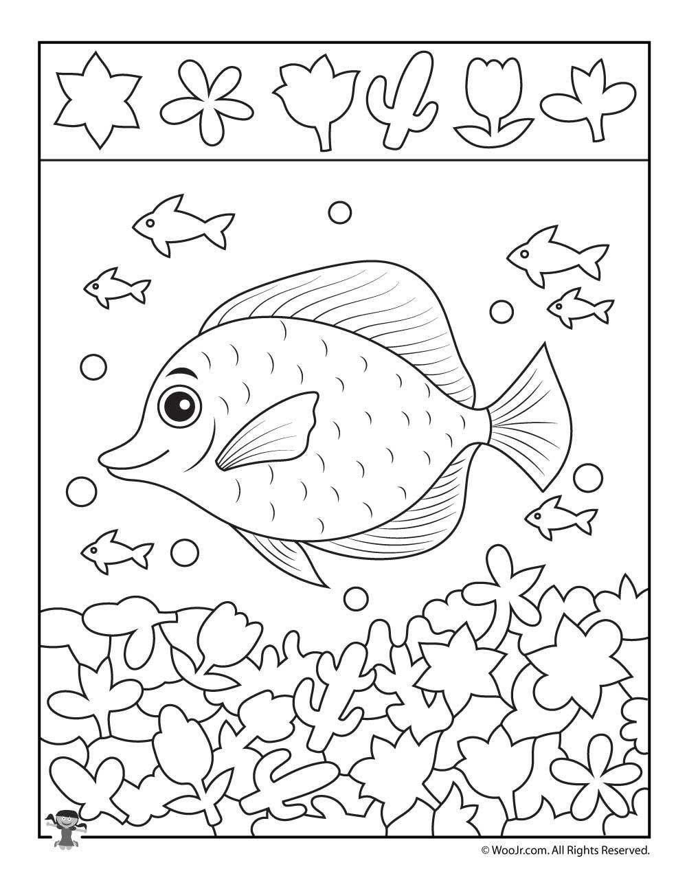 School Of Fish Hidden Picture Printable Hidden Pictures