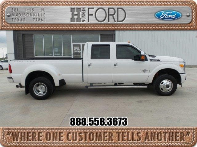 Henson Ford Madisonville Tx >> Used 2014 Ford F 350 Platinum For Sale At Henson Ford Inc