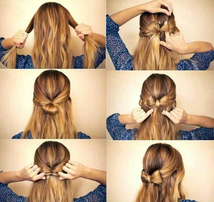Schleife Aus Haaren Hair In 2019 Frisur Ideen Indisches Haar