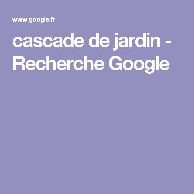 cascade de jardin - Recherche Google