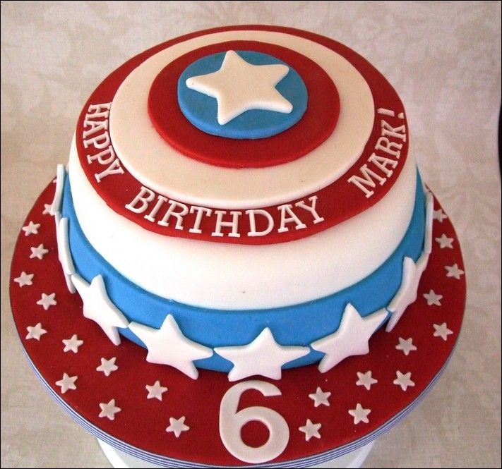 Captain America Birthday Cake Tesco Birthday Ideas Pinterest