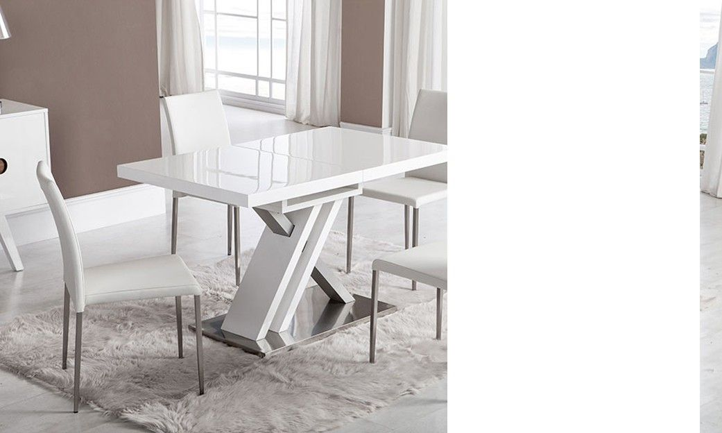 Table de salle à manger rectangulaire design avec rallonge ...