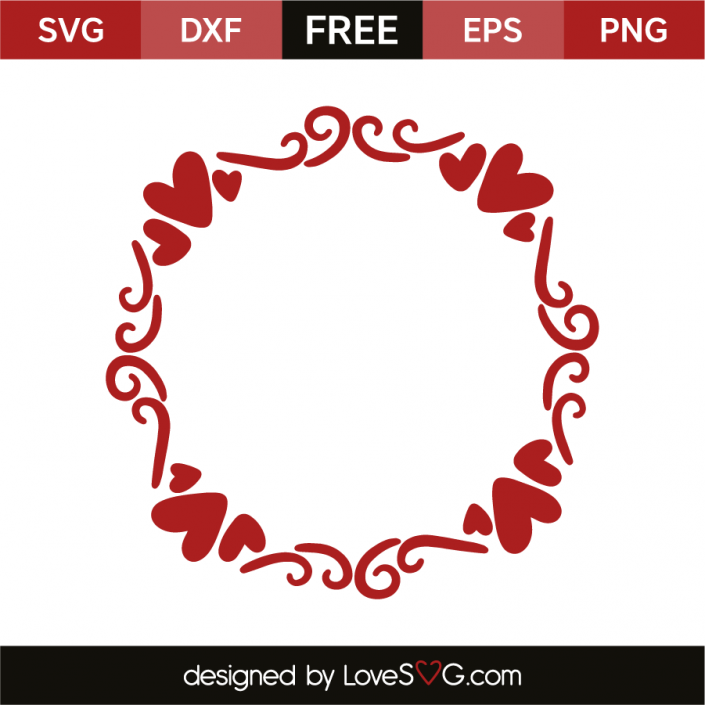 Download Hearts Monogram Frame | Cricut | Monogram frame, Cricut ...