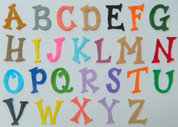 Bespoke Fabric Felt Letters Numbers Upper Lower By Saffroncraft 0 99 Felt Letters Letters And Numbers Iron On Letters