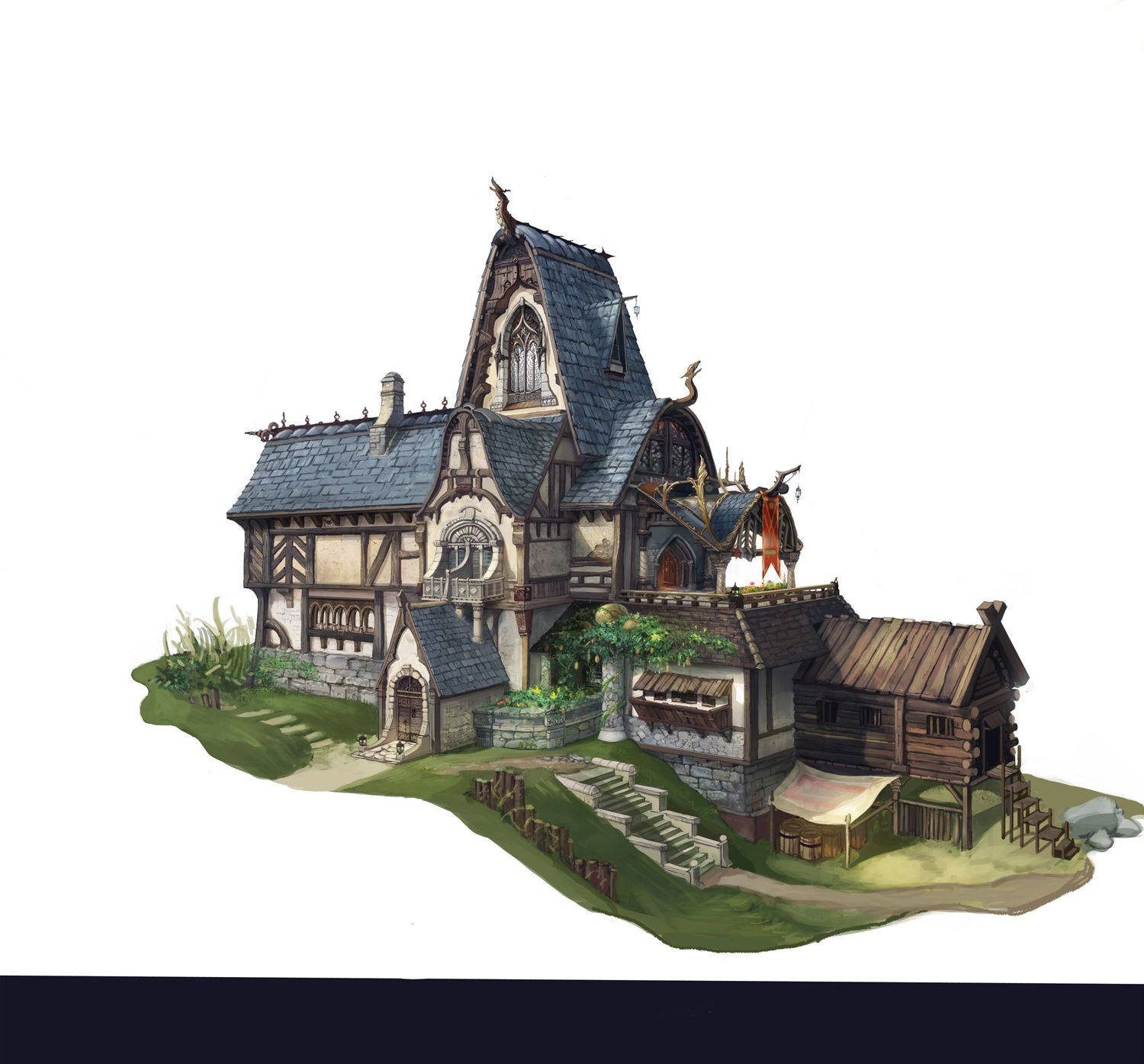 Fantasy building concept art images Concept buildings