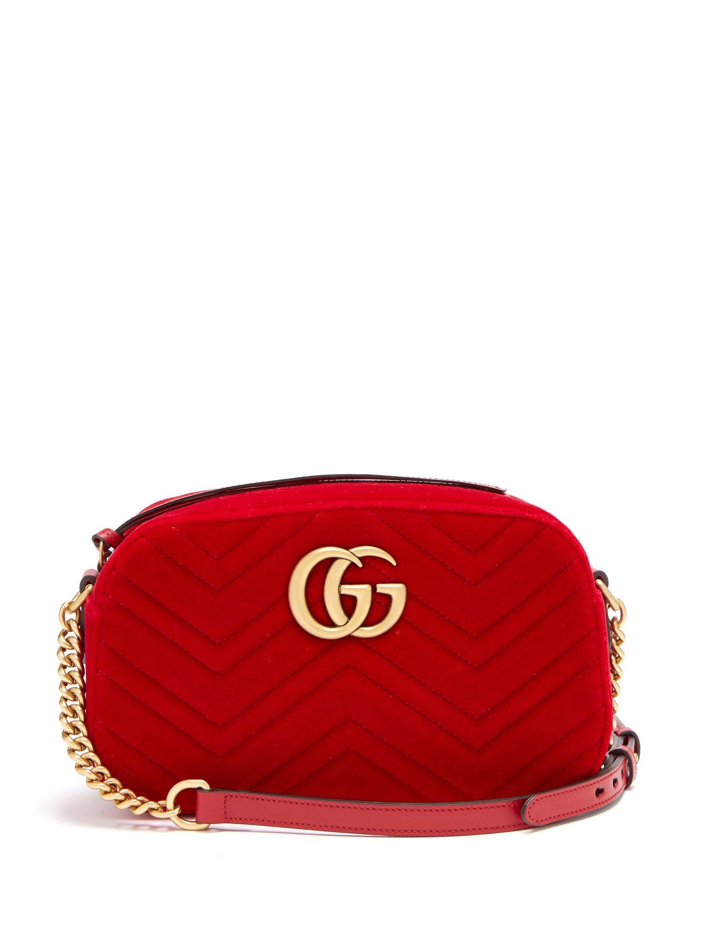 64ce7216ed GG Marmont quilted-velvet cross-body bag | Gucci | MATCHESFASHION ...