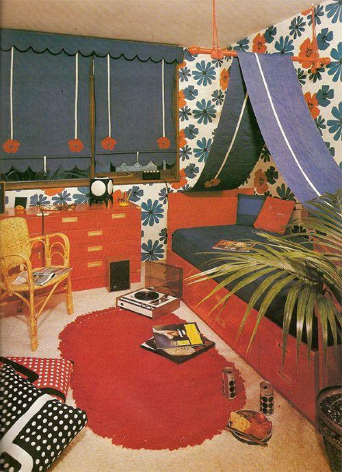 vintage children room decor  chambre enfant annes 70