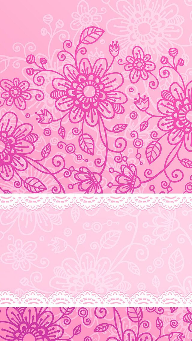 Pretty Pink Flower Design Henna Inspo Artzy Pink Wallpaper