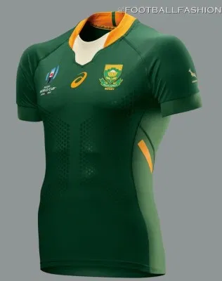 South Africa 2019 Rugby World Cup Asics Jerseys