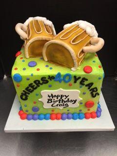 Birthday Cake Love The Big Beer Mugs On Top More