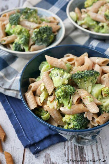 Vollkornnudeln mit Brokkoli-Schinken-Sauce - Experimente aus meiner Küche