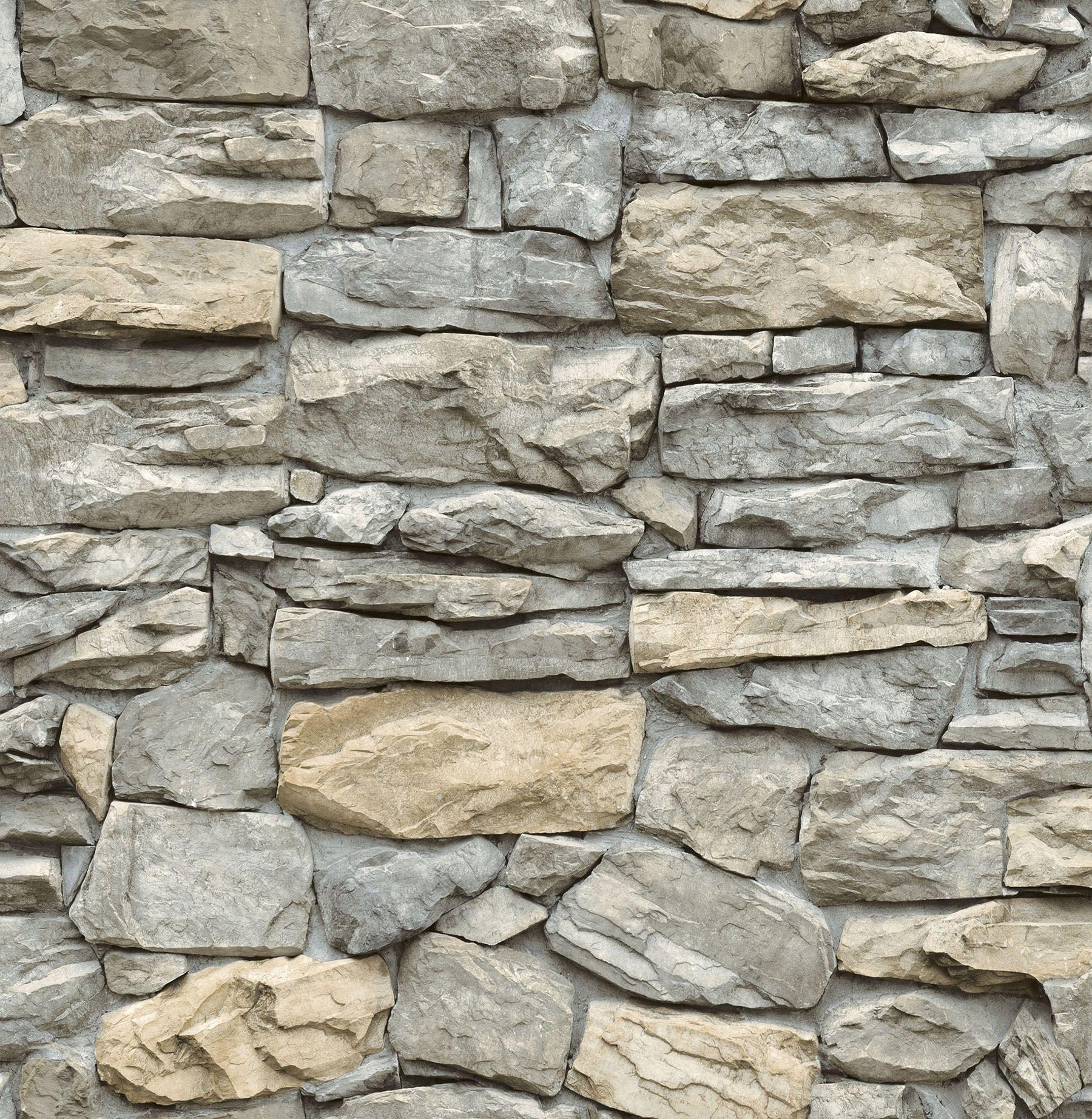 Inhome Kilkenny Stone Peel Stick Wallpaper Walmart Com In 2021 Faux Stone Wallpaper Peel And Stick Wallpaper Faux Stone Walls