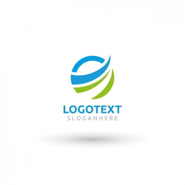 circular wave logo template free vector freepik pinterest logo