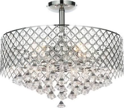 Paula 5 light semi flush ceiling light pagazzi lighting