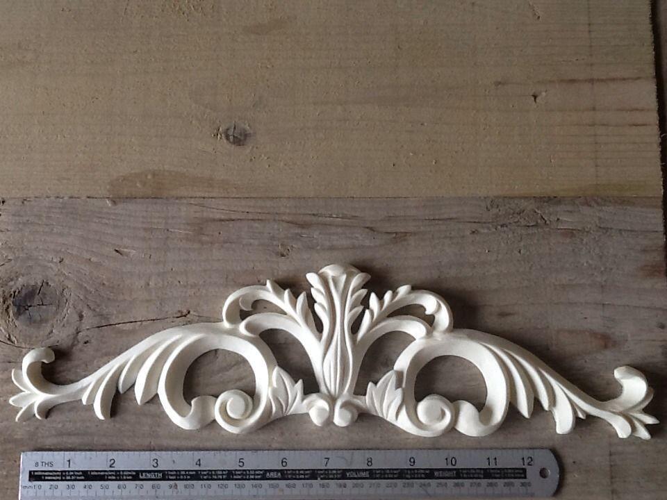 Large shabby chic decorative vintage furniture appliques moulding