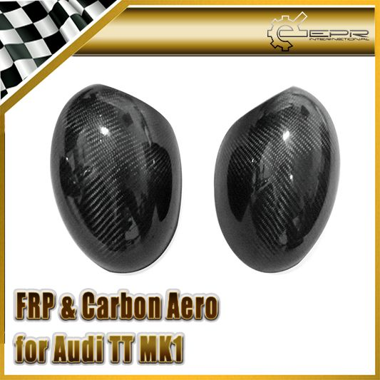 Car Styling For Audi Tt Mk1 1998 2006 Type 8n Carbon Fiber Mirror Cover Stick On Type Glossy Fibre Side Accessori Audi Tt Fiber Siding Exterior Accessories