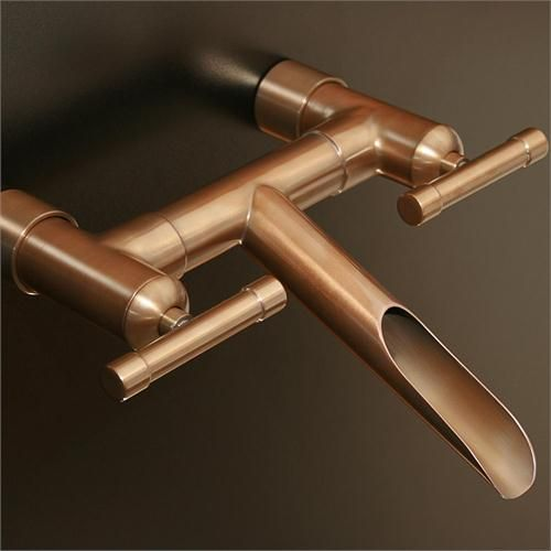 Water Decor Bridge Wall Mounted Lavatory Faucet Copper   Google Search