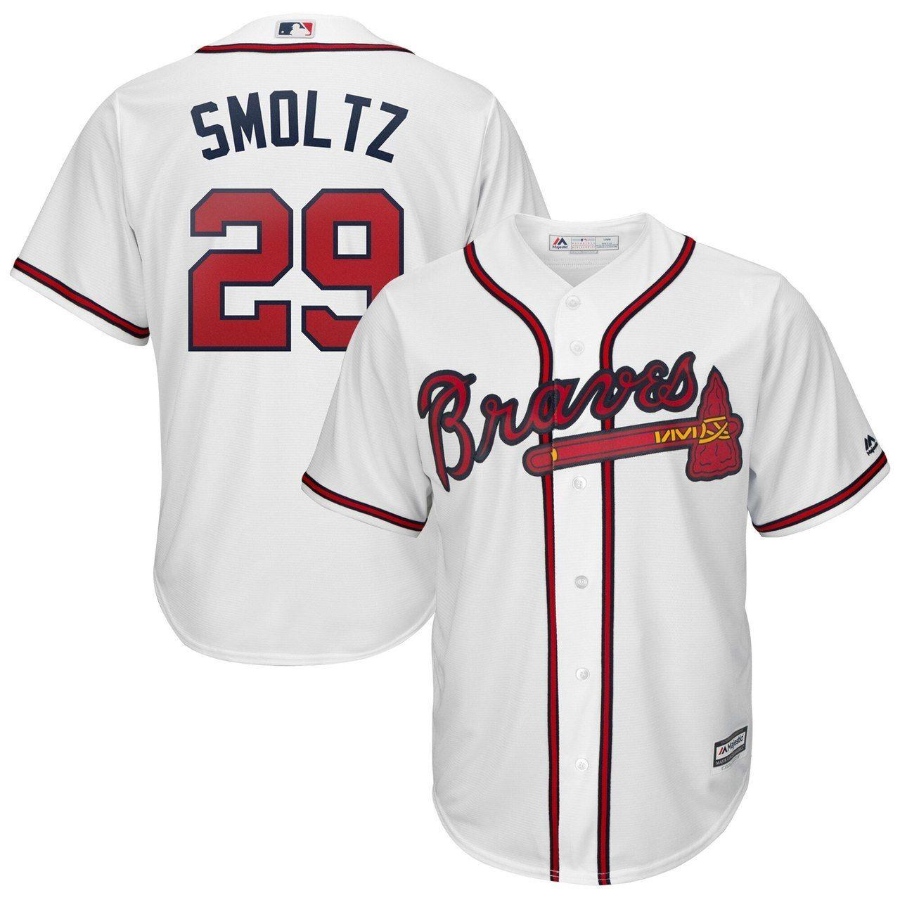 John Smoltz Atlanta Braves 29 Jersey White In 2020 Braves Jersey Atlanta Braves Jersey Atlanta Braves